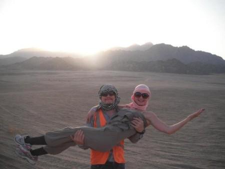In de woestijn in Egypte 2012